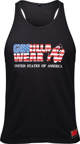 Gorilla Wear USA Tank Top - Zwart