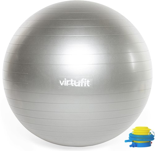 VirtuFit Anti-Burst Fitnessbal Pro - Gymbal - Swiss Ball - met Pomp - Grijs - 65 cm